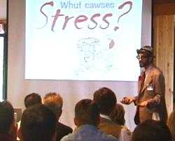 Buford's stress management keynote speech